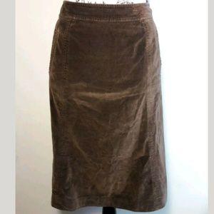 Garner Hill Borwn A-line Flare Skirt Size 8